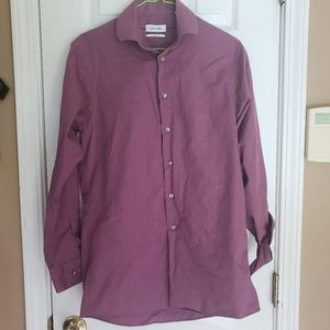 Calvin Klein purple dress shirt in GUC!!